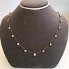 3.40ctw Floral Motif Old Mine Cut Diamond Necklace 2