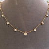 3.40ctw Floral Motif Old Mine Cut Diamond Necklace 5