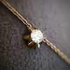 3.40ctw Floral Motif Old Mine Cut Diamond Necklace 9
