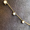 3.40ctw Floral Motif Old Mine Cut Diamond Necklace 7