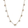 3.40ctw Floral Motif Old Mine Cut Diamond Necklace 0