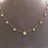 3.40ctw Floral Motif Old Mine Cut Diamond Necklace 4
