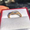 .44ct Antique Marquise Cut Diamond Bezel Ring GIA D 14