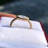 .44ct Antique Marquise Cut Diamond Bezel Ring GIA D 6