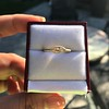.44ct Antique Marquise Cut Diamond Bezel Ring GIA D 12