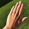.44ct Antique Marquise Cut Diamond Bezel Ring GIA D 17