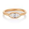 .44ct Antique Marquise Cut Diamond Bezel Ring GIA D 0