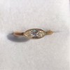 .44ct Antique Marquise Cut Diamond Bezel Ring GIA D 9