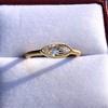 .44ct Antique Marquise Cut Diamond Bezel Ring GIA D 10