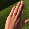 .44ct Antique Marquise Cut Diamond Bezel Ring GIA D 18