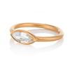 .44ct Antique Marquise Cut Diamond Bezel Ring GIA D 1