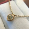 .59ct Fancy Light Yellow Pear/Heart Diamond Pendant, GIA 0
