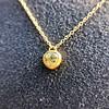 .59ct Fancy Light Yellow Pear/Heart Diamond Pendant, GIA 1