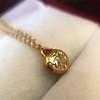 .59ct Fancy Light Yellow Pear/Heart Diamond Pendant, GIA 19