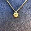 .59ct Fancy Light Yellow Pear/Heart Diamond Pendant, GIA 14