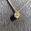 .59ct Fancy Light Yellow Pear/Heart Diamond Pendant, GIA 5