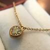 .59ct Fancy Light Yellow Pear/Heart Diamond Pendant, GIA 2