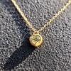 .59ct Fancy Light Yellow Pear/Heart Diamond Pendant, GIA 6