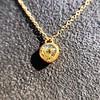 .59ct Fancy Light Yellow Pear/Heart Diamond Pendant, GIA 10