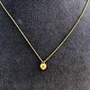 .59ct Fancy Light Yellow Pear/Heart Diamond Pendant, GIA 11