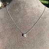 0.67ct Transitional Cut Diamond Pendant Clover Setting 9
