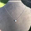 0.67ct Transitional Cut Diamond Pendant Clover Setting 3