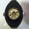 .81ct Fancy Yellow Old European Cut Diamond, Onyx Surround Setting 38