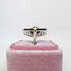 .81ct Fancy Yellow Old European Cut Diamond, Onyx Surround Setting 15