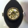 .81ct Fancy Yellow Old European Cut Diamond, Onyx Surround Setting 61