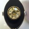 .81ct Fancy Yellow Old European Cut Diamond, Onyx Surround Setting 36