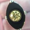 .81ct Fancy Yellow Old European Cut Diamond, Onyx Surround Setting 23