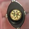 .81ct Fancy Yellow Old European Cut Diamond, Onyx Surround Setting 46
