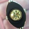 .81ct Fancy Yellow Old European Cut Diamond, Onyx Surround Setting 26