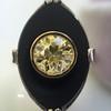 .81ct Fancy Yellow Old European Cut Diamond, Onyx Surround Setting 60