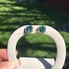 8.41ctw Blue Zircon Asscher Cut Bezel Earrings 13