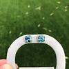 8.41ctw Blue Zircon Asscher Cut Bezel Earrings 16