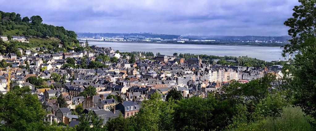 Overlooking Honfleur