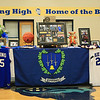 Center court was decorated with Ryan's #25 Jersey's from when he played basketball at Epping High School at the Ryan O'Day Celebration of Life Ceremony on Wednesday @ Epping High School, Epping, NH on 4-15-2015.  Matt Parker Photos