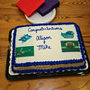 Cake was served for Winnacunnet Seniors Alison Hildreth who signed a letter of intent to play Field Hockey with the Penmen of Southern NH University while Mike Lewis signed to play football with the Skyhawks of Stonehill college in the Fall of 2016 at signing day on 4-13-2016 @ WHS.  Matt Parker Photos