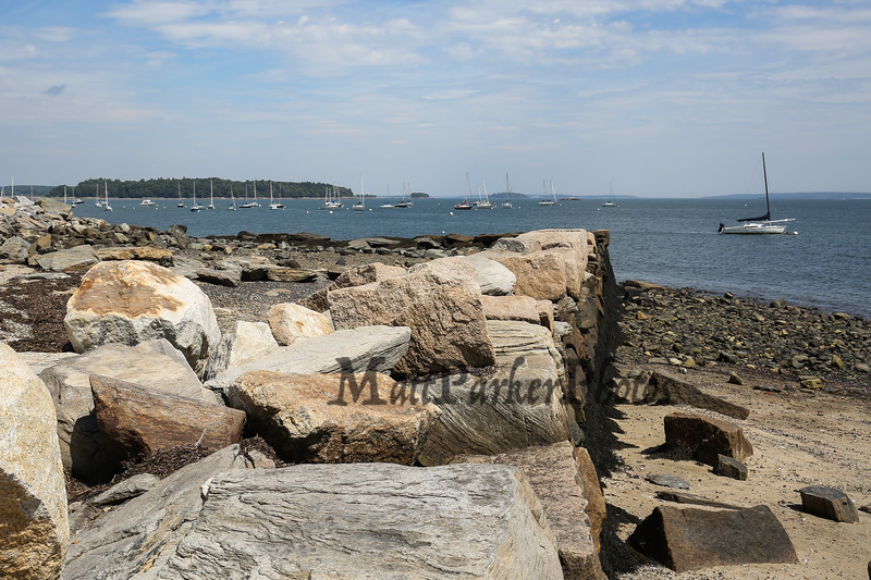 Fish Point with Lucia and Aine, Portland Maine on 8-25-2016.  Matt Parker Photos