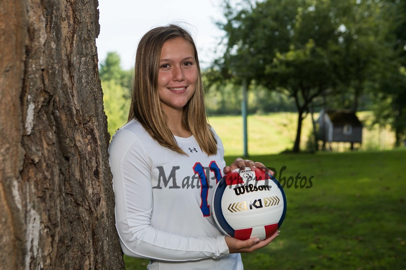 #11 Emily Wheeler, Winnacunnet Warriors Girls Volleyball photo day on Monday 8-27-2019 @ N. Hampton NH.  Matt Parker Photos