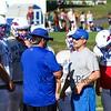 WHS Football Head Coach Ryan Francoeur talks with assistant coach Pat Snow during preseason offensive drills on Monday 8-26-2019 @ WHS.  [Matt Parker/Seacoastonline]