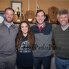 """Winnacunnet senior Samantha LiPetri with her Winnacunnet track and cross country coaches (L to R) Greg Connors, Samantha, Joe Lemay and Richard """"Ozzie"""" Sanborne celebrating signing day where Samantha has signed a letter of intent to run cross country and track for the Warriors of Merrimack College in the Fall of 2019 on Monday 2-18-2019 @ WHS.  [Matt Parker/Seacoastonline]"""