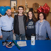 Winnacunnet senior Samantha LiPetri with her parents Paul and Lucia DeMello and WHS sophmore brother Anthony at signing day to run cross country and track for the Warriors of Merrimack College in the Fall of 2019 on Monday 2-18-2019 @ WHS.  [Matt Parker/Seacoastonline]