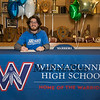 """Winnacunnet's Brennan Kittredge signs a letter of intent to play soccer for the Monks of Saint Joseph's College in Maine in the Fall of 2019, photo taken on Wednesday """"signing day"""" 3-13-2019 @ WHS.  [Matt Parker/Seacoastonline]"""