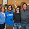 """Winnacunnet's Brennan Kittredge with his parents Amanda and Ned and sister Aidan who is a sophomore at UNH, Brennan signed a letter of intent to play soccer for the Monks of Saint Joseph's College in Maine in the Fall of 2019 photo taken on Wednesday """"signing day"""" 3-13-2019 @ WHS.  [Matt Parker/Seacoastonline]"""