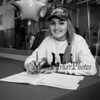 """Winnacunnet's Jenna Fiore signs a letter of intent to play Field Hockey with the Pioneers of Long Island University post in the Fall of 2019, photo taken on Wednesday """"signing day"""" 3-13-2019 @ WHS.  Matt Parker Photos"""