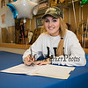 """Winnacunnet's Jenna Fiore signs a letter of intent to play Field Hockey with the Pioneers of Long Island University post in the Fall of 2019, photo taken on Wednesday """"signing day"""" 3-13-2019 @ WHS.  [Matt Parker/Seacoastonline]"""