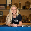 Winnacunnet senior Nikki Tredwell signs a letter of intent to play Div I field hockey in the Fall of 2019 on a scholarship at the University of New Hampshire on WHS signing day, Friday 4-19-2019 @ WHS.  Matt Parker Photos