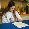 Winnacunnet Warriors Dailyn Annis of Hampton Falls signs a letter of intent to play field hockey in the Fall of 2019 for the Panthers of Adelphi University in Garden City, NY on signing day, Tuesday 4-30-2019 @ WHS.  [Matt Parker/Seacoastonline]